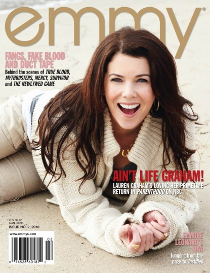 Lauren Graham on the cover of a magazine.