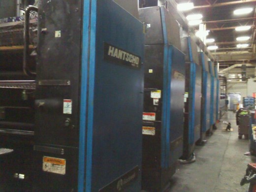 A Hantscho press with 6 units
