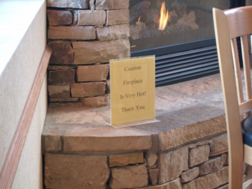 Appropriate warning (although it should be obvious)... the fireplace is very hot.
