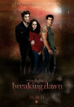 "A ""Breaking Dawn Part 1"" movie poster."