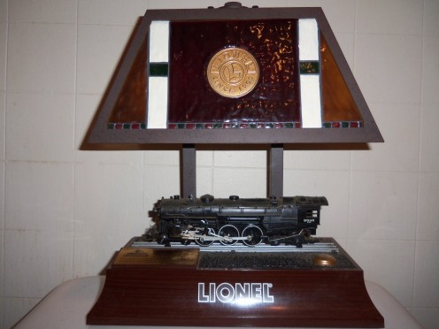 The Lionel lamp complete with running train and whistle sounds