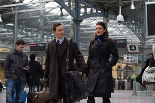 """Fassbender and Carano meet for their assignment in """"Haywire."""""""