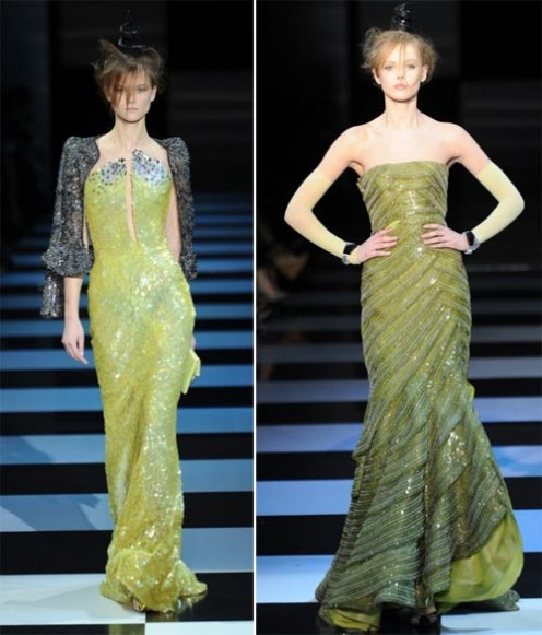 And if we win the Lottery both of these Armani dresses will be on my shopping list
