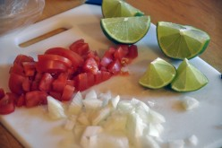 A tomato and lime salad recipe from North Africa published by Patty Inglish, MS.