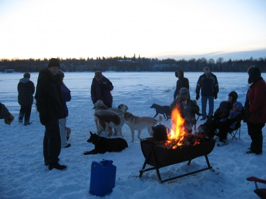 Dog Howl Bonfire
