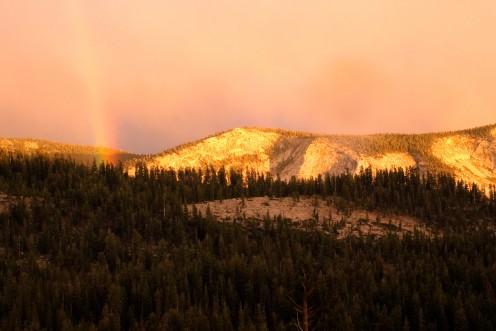 Rainbow, Olmstead Point, Yosemite National Park, California