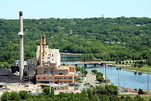 A working coal plant in Rochester, Minnesota