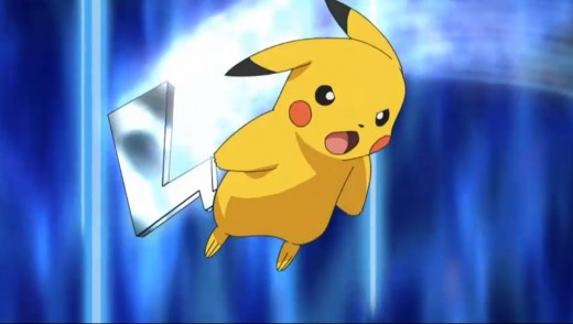 Ash's Pikachu using iron tail move