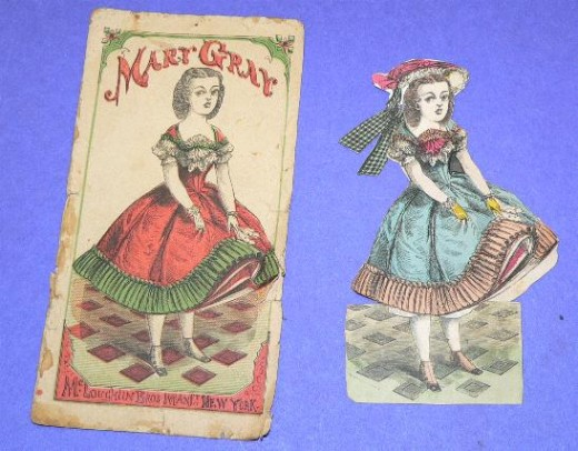 Paper dolls from the early 1900s. They became popular in the United States around 1920.