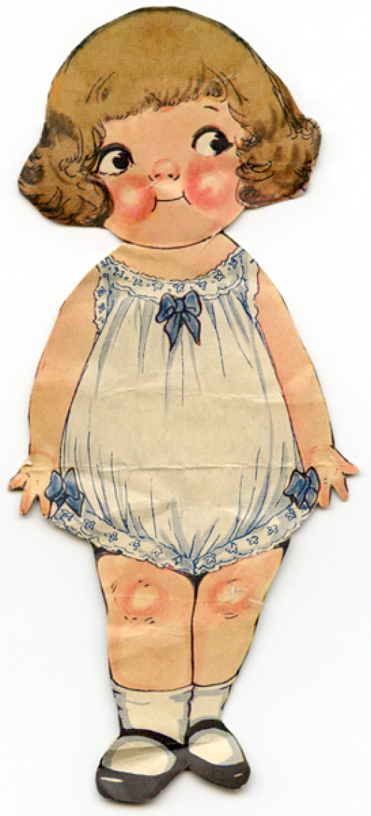 Cute paper doll from the early 1920's.