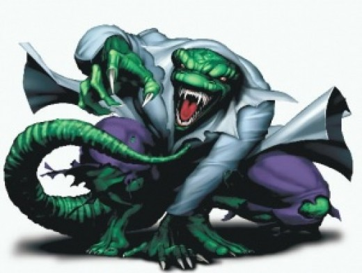 The Lizard is an example of a mad scientist.  Although his ambitions were good he still managed to become a beast.