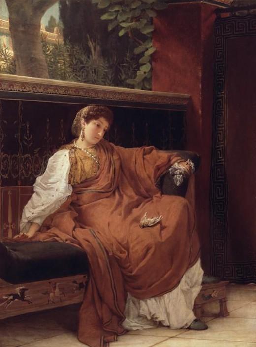 Clodia weeping, Lawrence Alma Tadema