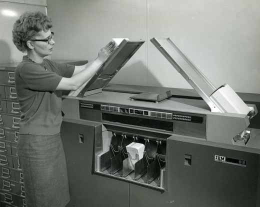 Woman Worker at IBM Company