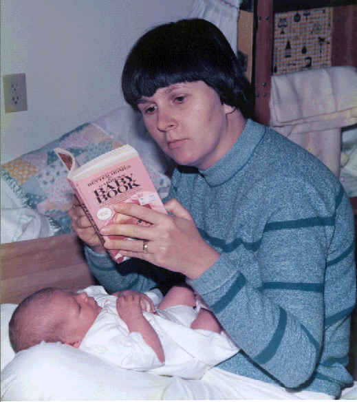 We all need to refer to a 'baby book' at first.