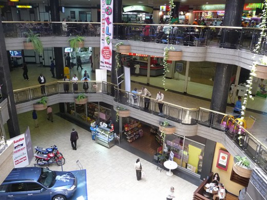 Inside Sarit Center Mall