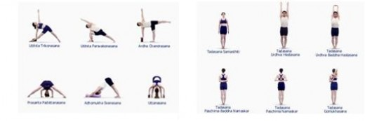 The link will take you to larger versions so you can check out or try the standing asanas of Iyengar yourself.