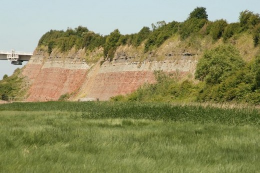 Eroded clay hillside.