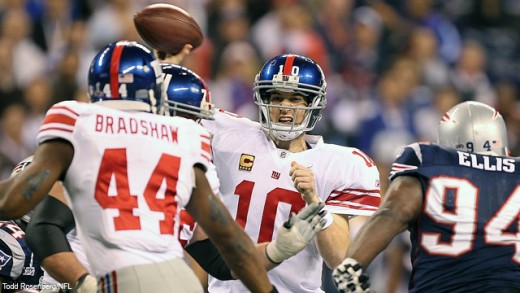 Eli Manning beats Tom Brady for the second time on the biggest stage.