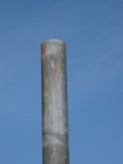 Steel pole and blue sky.
