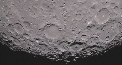 South pole of the far side of the moon, as imaged by the GRAIL mission's Arthur spacecraft (Officially named Ebb)