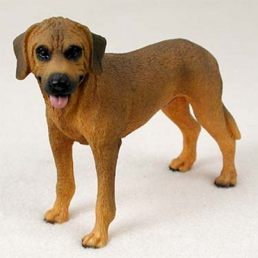 Rhodesian Ridgeback Dog Breed Figurine.