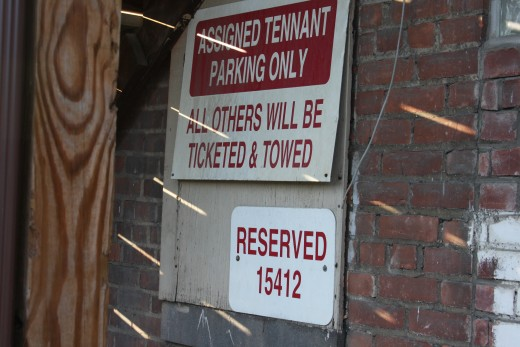 Reserved Parking in Alley Behind Hard Luck Lounge