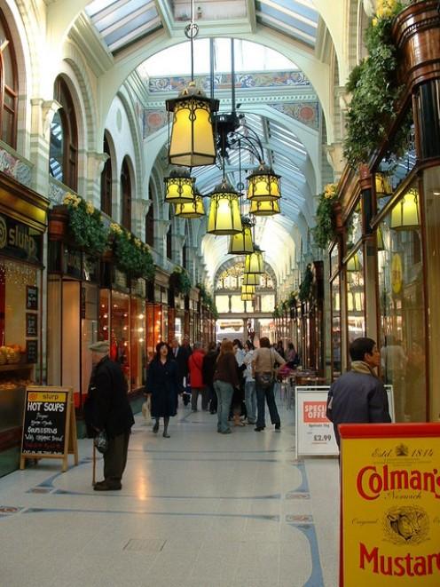 Inside the Royal Arcade, Norwich