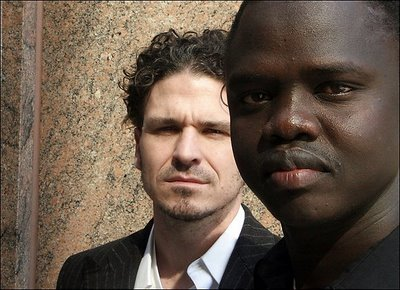 Dave Eggers with Valentino Achak Deng
