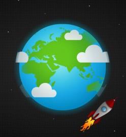 Relay Writing: Spin around the Globe!