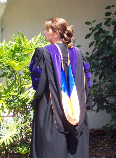 Doctoral robe for law