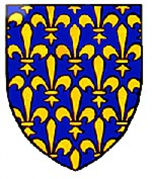The Fleur de lis, the French Royal Coat of Arms