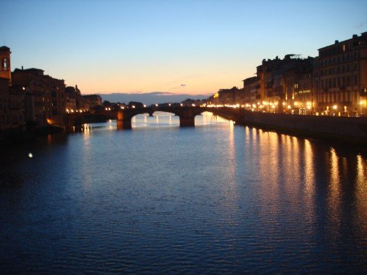 View from Ponte Vecchio bridge