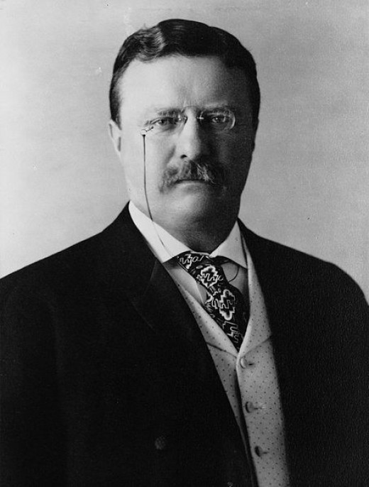 President Theodore Roosevelt, for whom the teddy bear was named.
