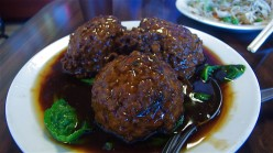 Chinese Meatballs with Cabbage (Red Cooked Lion Heads)