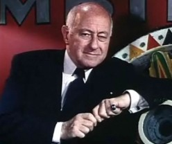 """Cecil B. DeMille in the trailer for """"The Greatest Show on Earth"""" (1952)"""