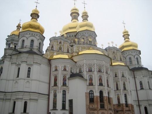 One of the churches at the Kiev Lavra