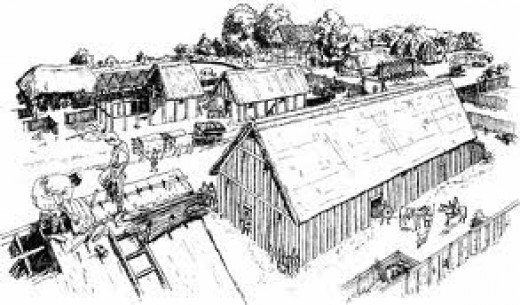 An earl's household - this one of Drengham, which Harold would have inherited from his father Godwin in AD1053