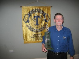 Here I am in possession of another Club Trophy.  Club, Area, and a single Divisional  Contest many years ago, the last my highest TMI achievement.   Still wondering what I'm doing wrong... Post Script!.  Made it to Divisional Level in 2013.  Hurrah!
