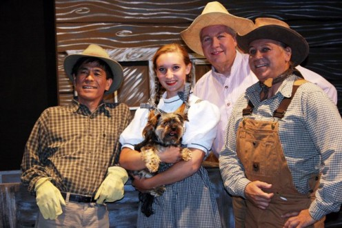 Dakota Bailey as Dorothy ~ Steven Kunkle as Cowardly Lion/Zeke ~ Larry Kawano as Scarecrow/Hunk ~ Ken Carlson as Tin Man/Hickory