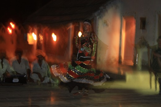 We watched this beautiful girl perform a traditional Rajasthani dance