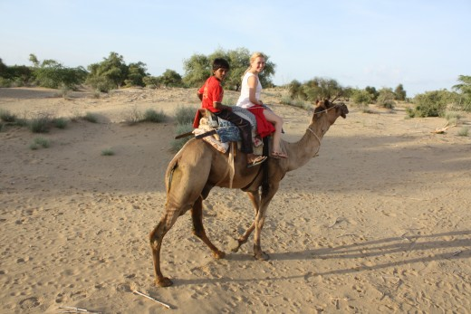 My guide and I passing through the Thar Desert :)
