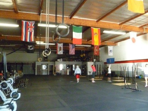 Crossfit Brea: typical Crossfit space.
