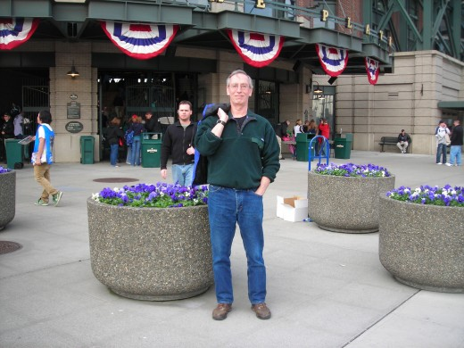 Happiness is a baseball game at Safeco Field