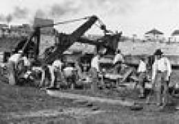 Miners at work on Mesabi Iron Range