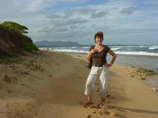 One of Kauai's natural beaches