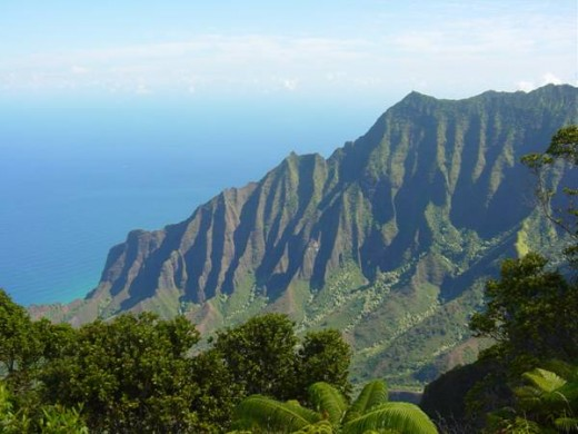 Kalalau Lookout with views of the Napali Coast