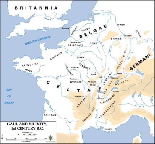 Gaul, 1st century BCE