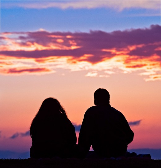 Picture by Anthony Citrano of a Love couple watching sunset in Venice