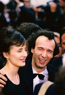 Roberto Benigni with his wife, Nicoletta Braschi