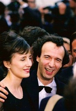 Roberto Benigni with his wife, Nicoletta Braschi
